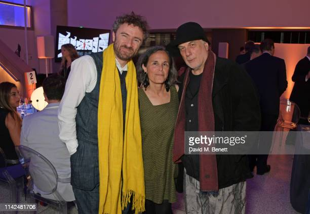 Thomas Heatherwick Alma Arad and Ron Arad attend a private view of Stanley Kubrick The Exhibition at The Design Museum on May 9 2019 in London England