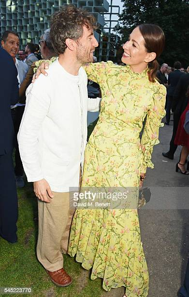 Thomas Heatherwick and Yana Peel attend The Serpentine Summer Party cohosted by Tommy Hilfiger on July 6 2016 in London England