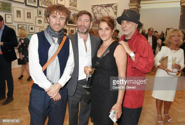 Thomas Heatherwick Mat Collishaw Tracey Emin and Ron Arad attend the Royal Academy Of Arts Summer Exhibition preview party at Royal Academy of Arts...