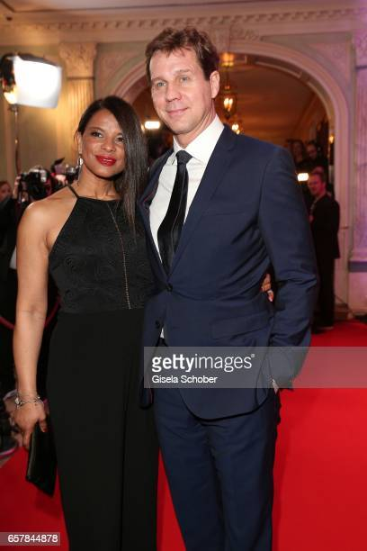 Thomas Heinze and his girlfriend Jackie Brown during the Gala Spa Awards at Brenners ParkHotel Spa on March 25 2017 in BadenBaden Germany