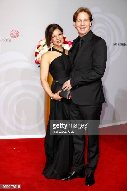 Thomas Heinze and Jackie Brown attend the Rosenball charity event at Hotel Intercontinental on May 5 2018 in Berlin Germany