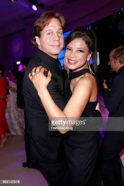 Thomas Heinze and Jackie Brown during the Rosenball charity event at Hotel Intercontinental on May 5 2018 in Berlin Germany