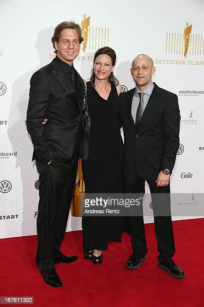 Thomas Heinze and Juergen Vogel arrive for the Lola - German Film Award 2013 at Friedrichstadt-Palast on April 26, 2013 in Berlin, Germany.