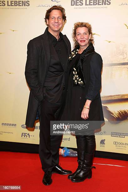 Thomas Heinze and Margarita Broich attend 'Quelle des Lebens' Germany Premiere at Delphi Filmpalast on February 5 2013 in Berlin Germany