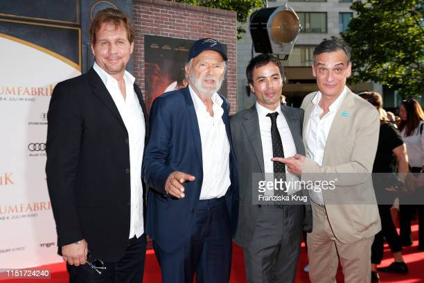 "Thomas Heinze, Michael Gwisdek, Nikolai Kinski, and Anatole Taubman during the ""Traumfabrik"" Movie Premiere on June 24, 2019 in Berlin, Germany."