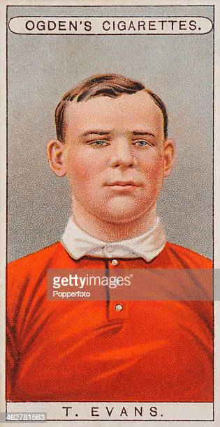 Thomas Henry Evans of Llanelli RFC and Wales featured on a vintage cigarette card published in London circa 1908