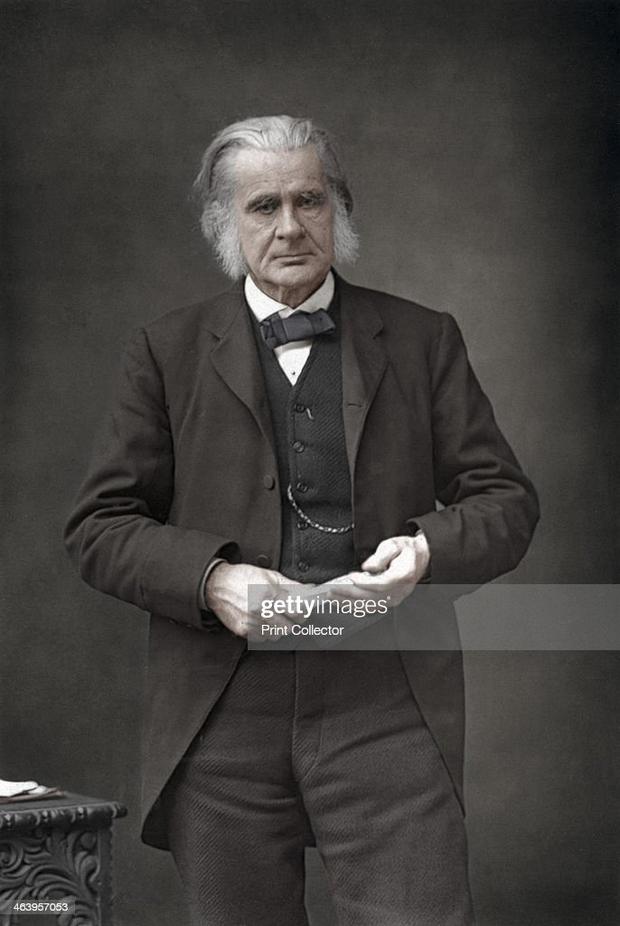 Thomas Henry Huxley (1825-1895), English biologist, 1890. Huxley was known as Darwin's Bulldog for his advocacy of Charles Darwin's theory of evolution. From The Cabinet Portrait Gallery, first series, Cassell and Company Limited (London, Paris and Melbourne, 1890). (Colorised black and white print).