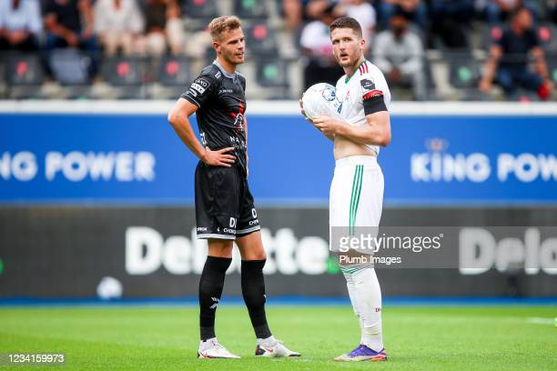 Thomas Henry of OH Leuven during the Jupiler Pro League match between OH Leuven and Zulte Waregem at the King Power at Den Dreef Stadion on July 24,...
