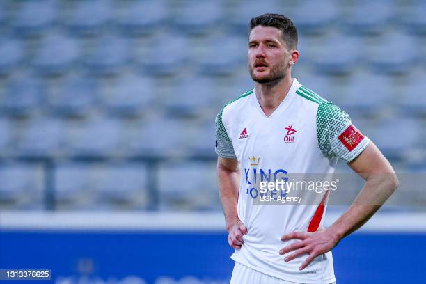 Thomas Henry of OH Leuven during the Jupiler Pro League match between OH Leuven and Waasland Beveren at King Power at Den Dreef Stadion on April 18,...