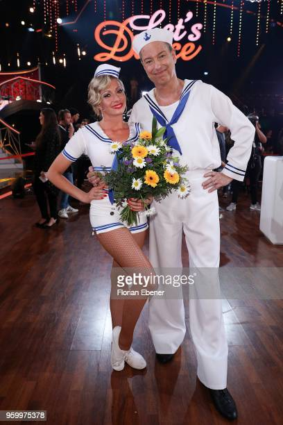 Thomas Hermanns and Regina Luca during the 9th show of the 11th season of the television competition 'Let's Dance' on May 18 2018 in Cologne Germany