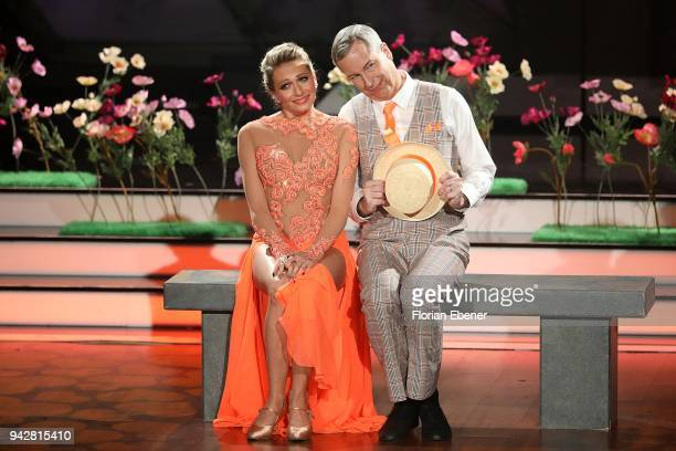 Thomas Hermanns and Regina Luca perform on stage during the 3rd show of the 11th season of the television competition 'Let's Dance' on April 6 2018...