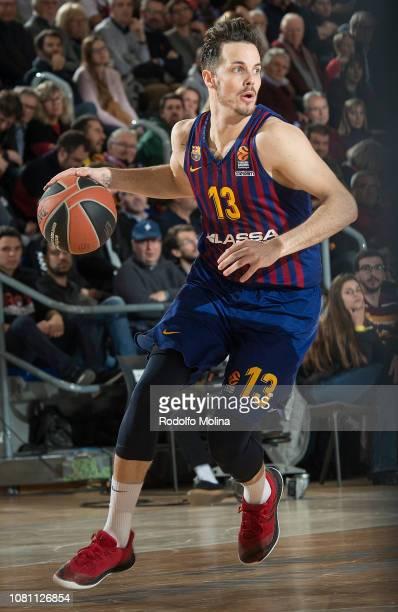 Thomas Heurtel #13 of FC Barcelona Lassa in action during the 2018/2019 Turkish Airlines EuroLeague Regular Season Round 18 game between FC Barcelona...