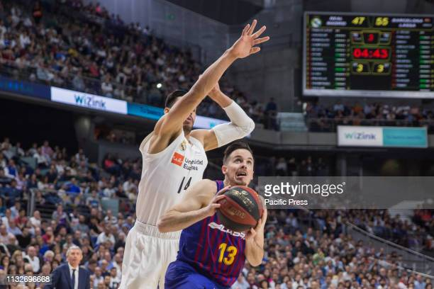 Thomas Heurtel during FC Barcelona Lassa victory over Real Madrid in Liga Endesa regular season game celebrated in Madrid at Wizink Center March 24th...