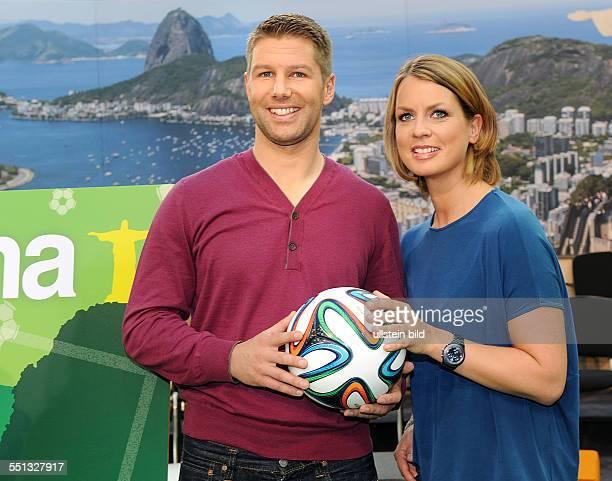 Thomas Hitzlsperger als WM-Experte im ZDF-Morgenmagazin. Ab Dienstag, 10. Juni 2014 wird der 52-fache Nationalspieler gemeinsam mit den Moderatoren...