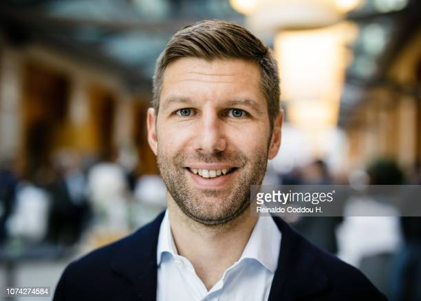 Thomas Hitzlsperger attends the annual DFB conference concerning the social responsibility of football in society, at the Radisson Blu Hotel on...