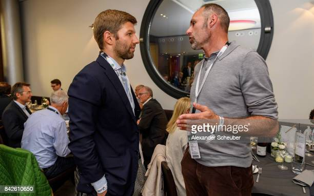 Thomas Hitzlsperger attends the Club of former national players meeting during the FIFA 2018 World Cup Qualifier between Germany and Norway at...