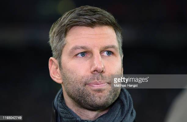 Thomas Hitzlsperger, CEO of VfB Stuttgart, seen during the Second Bundesliga match between VfB Stuttgart and 1. FC Nürnberg at Mercedes-Benz Arena on...