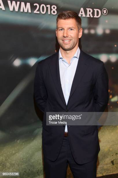 Thomas Hitzlsperger during the TV programs ARD and ZDF present their team for the 2018 FIFA World Championship in Russia on April 23, 2018 in...