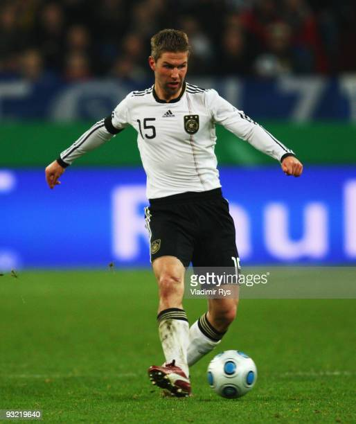 Thomas Hitzlsperger of Germany is pictured during the International friendly match between Germany and the Ivory Coast at the Schalke Arena on...