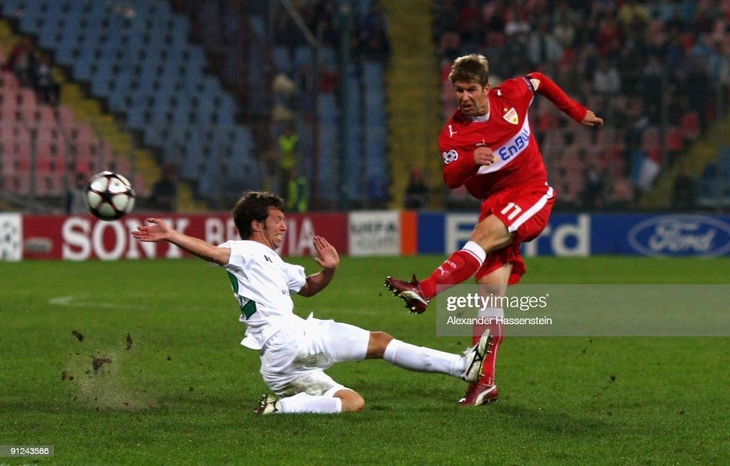 AFC Unirea Urziceni v VfB Stuttgart - UEFA Champions League : ニュース写真