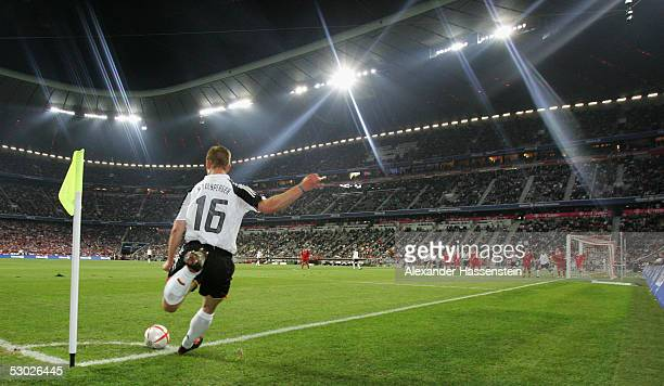 Thomas Hitzlsperger of the German National Team in action during the opening game of the Allianz Arena between Bayern Munich and German Football...