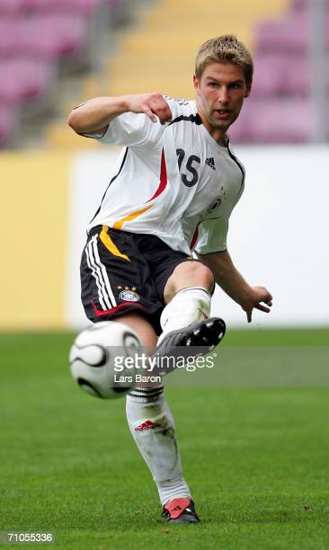 Thomas Hitzlsperger passes the ball during the test match between the A Juniors of Servette Geneva and the German National Team at the Stade de...