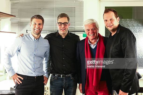 Thomas Hitzlsperger, Philipp Koester, Werner Spinner, Wolff-Christoph Fuss attend the '11 Freunde Jahresrueckblick' at Gloria on December 15, 2014 in...