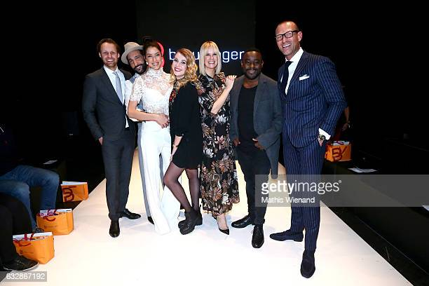 Thomas Hoehn Massimato Sinato Rebecca Mir Amelie Klever Monica Ivancan Nelson Mueller and Andreas Rebbelmund attend the Breuninger after party during...