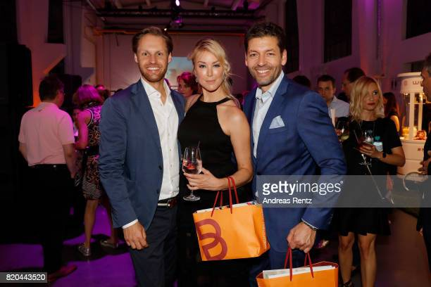 Thomas Hoehn Nina Ensmann and partner attend the Breuninger after party during Platform Fashion July 2017 at Areal Boehler on July 21 2017 in...