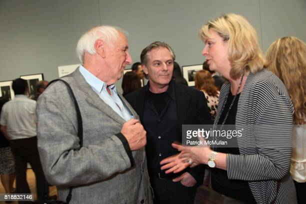 Thomas Hoepker Keith Delellis and Karen Larson attend Evening Reception For HENRI CARTIERBRESSON THE MODERN CENTURY at MoMA on April 6 2010 in New...