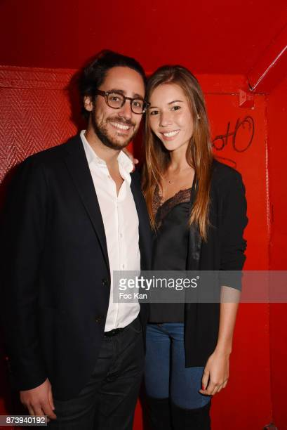 Thomas Hollande and Emilie Broussouloux attend 'Les Fooding 2018' Cocktail at Les Follies Pigalle 11 Place Pigalle on November 13 2017 in Paris France