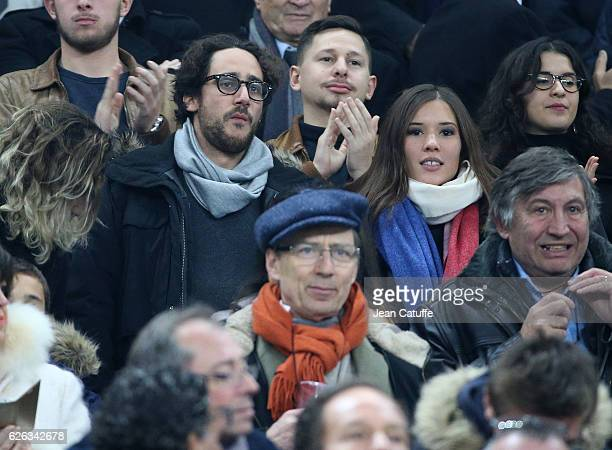 Thomas Hollande and Emilie Broussouloux attend the international friendly test match between France and New Zealand at Stade de France on November 26...