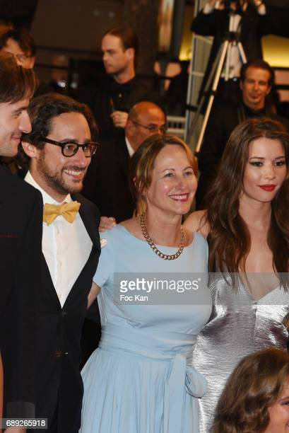 Thomas Hollande and his mother Segolene Royal attend the 'You Were Never Really Here' screening during the 70th annual Cannes Film Festival at Palais...