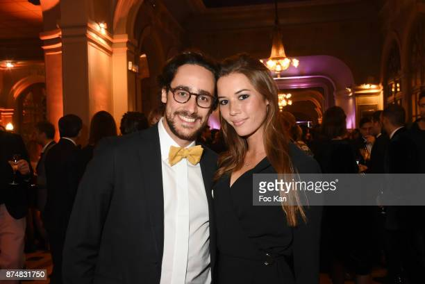 Thomas Hollande and TV presenter Emilie Broussouloux attend the Les GQ Men Of The Year Awards 2017 Photocall at Trianon on November 15 2017 in Paris...