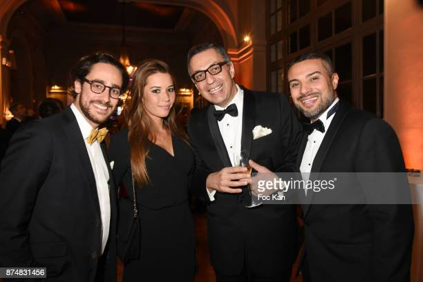Thomas Hollande TV presenter Emilie Broussouloux and guests attend the Les GQ Men Of The Year Awards 2017 Photocall at Trianon on November 15 2017 in...