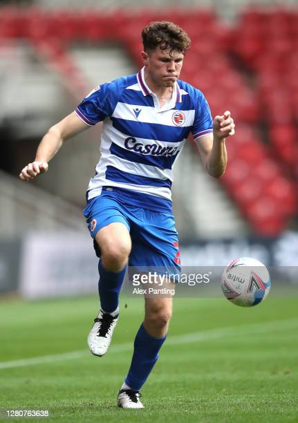 Thomas Holmes of Reading during the Sky Bet Championship match between Middlesbrough and Reading at Riverside Stadium on October 17 2020 in...