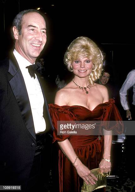 Thomas Hoving and Loni Anderson during Sammy Davis Jr Honored At The Candy Man Ball By Temple Beth Am at Beverly Hilton Hotel in Beverly Hills...