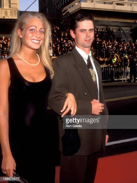 C Thomas Howell and Sylvie Anderson at the Premiere of 'Batman' Mann's Chinese Theatre Hollywood