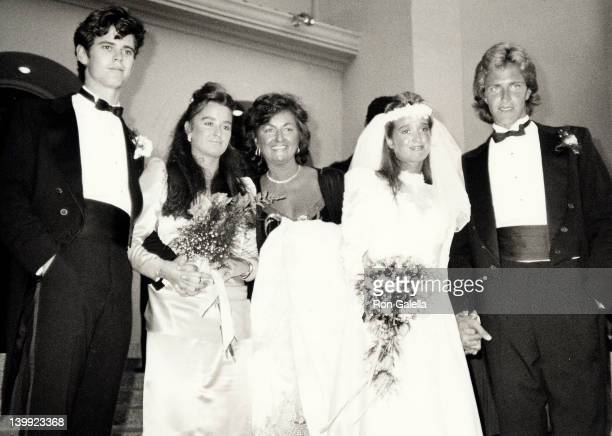 C Thomas Howell Kyle Richards Kathleen Richards Kim Richards and G Monty Brinson at the Kim RichardsG Monty Brinson Wedding Beverly Hills Hotel...