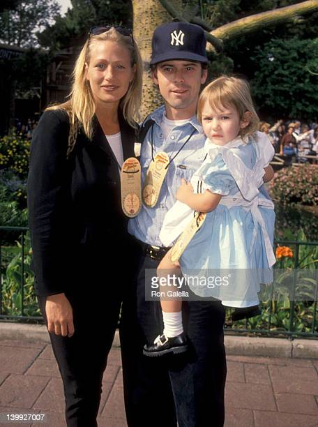 C Thomas Howell Sylvie Anderson and daughter Isabelle Howell at the Grand Opening of New Theme Park AttractionThe Indiana Jones Adventure in...