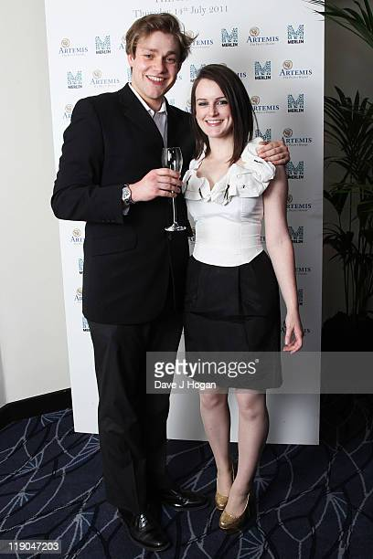 Thomas Howes and Sophie McShera attend an Evening With Downton Abbey Raising Money For Merlin The Medical Relief Charity at The Savoy Hotel on July...