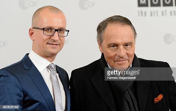 Thomas Hroch and Gero von Boehm attend the premiere of the film 'Der Clan Die Geschichte der Familie Wagner' at Gloria Palast on January 15 2014 in...
