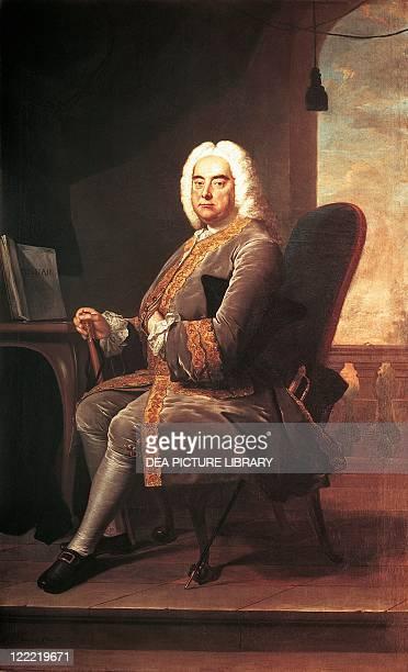 Thomas Hudson , Portrait of George Frideric Handel , German-English composer, 1756.