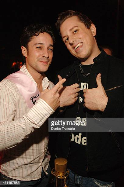 Thomas Ian Nicholas and Mike Snedegar during Raven Symone's 21st Birthday Diner at Tao Asian Bistro at The Venetian Hotel and Casino Resort at Tao...