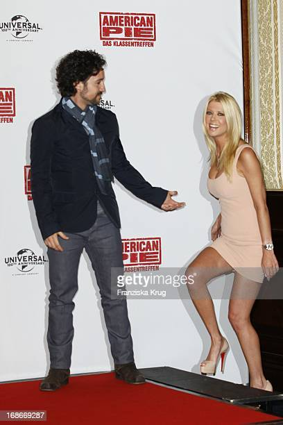 Thomas Ian Nicholas and Tara Reid at photocall for the movie American Pie Reunion in Berlin on 29th of March