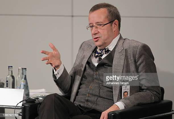 Thomas Ilves President of Estonia participates in a panel discussion during day 3 of the 48th Munich Security Conference at Hotel Bayerischer Hof on...