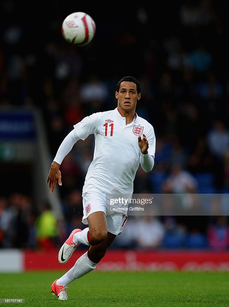 Thomas Ince of England in action during the UEFA Under-21 EURO 2013 Group 8 Qualifier between England and Norway at Proact Stadium on September 10, 2012 in Chesterfield, England.