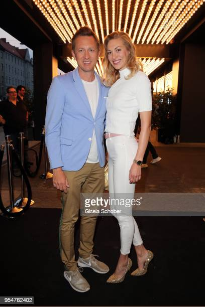 Thomas Isermann and his wife Marie Isermann during the Grand Opening of Roomers Spa by Shan Rahimkhan on May 4, 2018 in Munich, Germany.