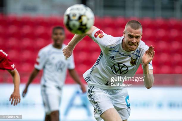 Thomas Isherwood of Ostersunds FK during the Allsvenskan match between Kalmar FF and Ostersunds FK at Guldfageln Arena on July 1, 2020 in Kalmar,...
