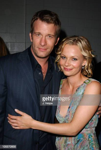 Thomas Jame and Samantha Mathis during The Punisher Los Angeles Premiere After Party at Soho Project in Hollywood California United States